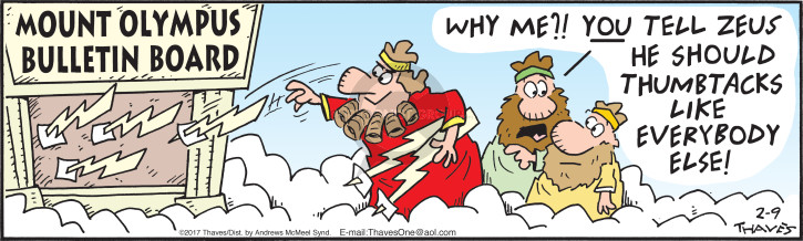 Comic Strip Bob Thaves Tom Thaves  Frank and Ernest 2017-02-09 Zeus
