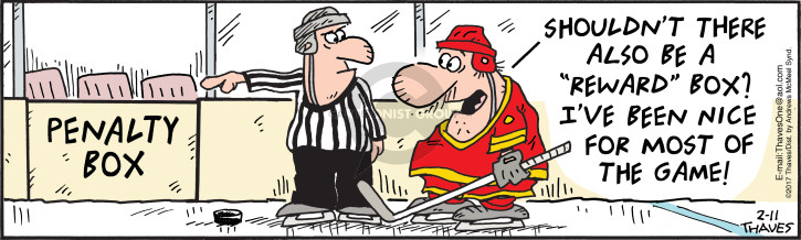 Comic Strip Bob Thaves Tom Thaves  Frank and Ernest 2017-02-11 hockey