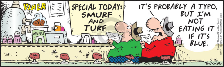 Comic Strip Bob Thaves Tom Thaves  Frank and Ernest 2017-05-16 surf