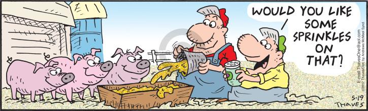 Cartoonist Bob Thaves Tom Thaves  Frank and Ernest 2017-05-19 additive