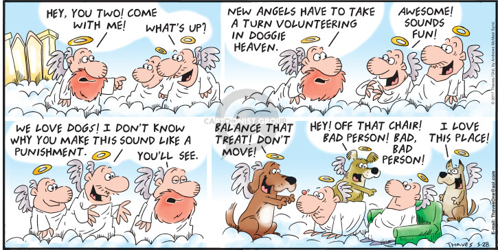 Cartoonist Bob Thaves Tom Thaves  Frank and Ernest 2017-05-28 heaven