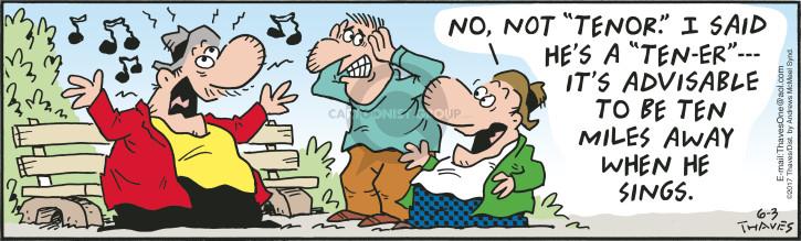 Comic Strip Bob Thaves Tom Thaves  Frank and Ernest 2017-06-03 singer