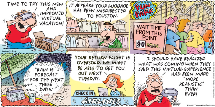 Comic Strip Bob Thaves Tom Thaves  Frank and Ernest 2017-06-04 air traveler