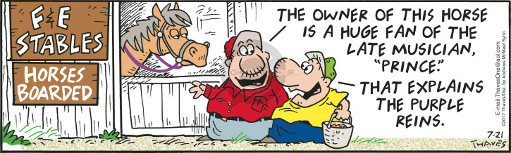 Comic Strip Bob Thaves Tom Thaves  Frank and Ernest 2017-07-21 huge
