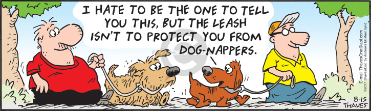 Comic Strip Bob Thaves Tom Thaves  Frank and Ernest 2017-08-15 protection