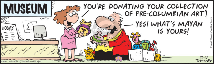 Comic Strip Bob Thaves Tom Thaves  Frank and Ernest 2017-10-17 donor