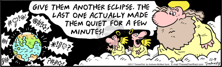 Comic Strip Bob Thaves Tom Thaves  Frank and Ernest 2017-11-09 eclipse