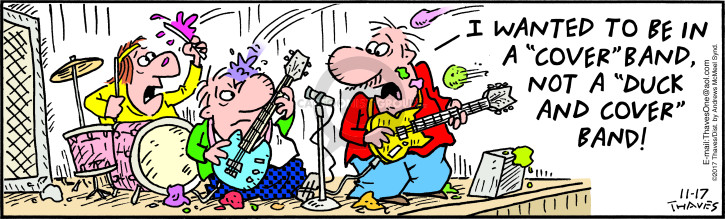 Comic Strip Bob Thaves Tom Thaves  Frank and Ernest 2017-11-17 musician
