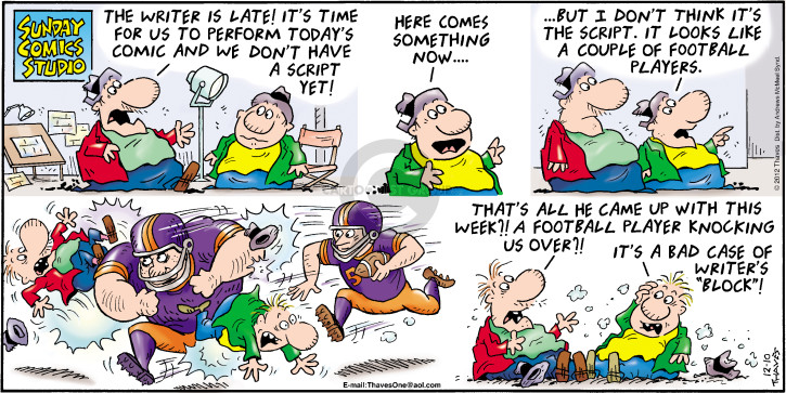Cartoonist Bob Thaves Tom Thaves  Frank and Ernest 2017-12-10 football