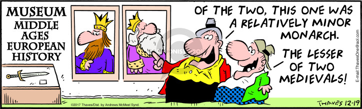 Comic Strip Bob Thaves Tom Thaves  Frank and Ernest 2017-12-19 royalty
