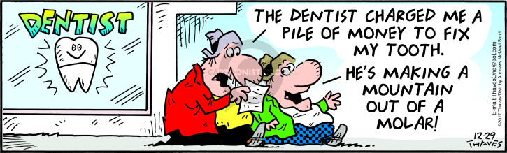 Comic Strip Bob Thaves Tom Thaves  Frank and Ernest 2017-12-29 dentistry