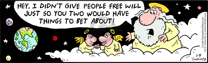 Comic Strip Bob Thaves Tom Thaves  Frank and Ernest 2018-01-09 didn't