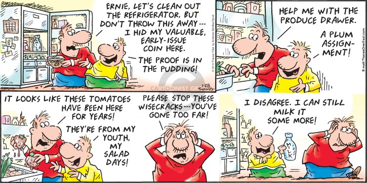 Comic Strip Bob Thaves Tom Thaves  Frank and Ernest 2018-01-28 hide