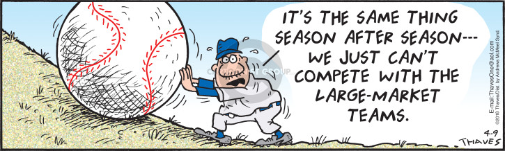 Comic Strip Bob Thaves Tom Thaves  Frank and Ernest 2018-04-09 baseball team
