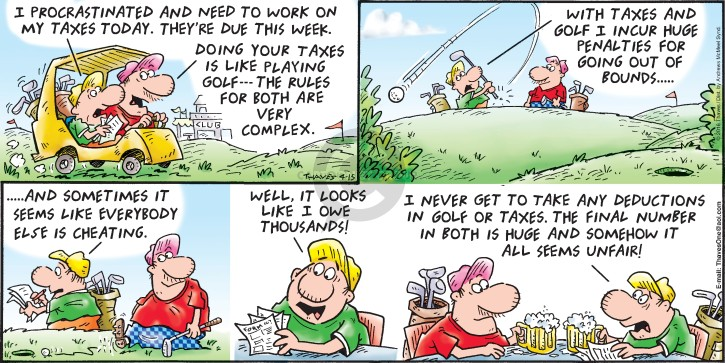 Comic Strip Bob Thaves Tom Thaves  Frank and Ernest 2018-04-15 golf