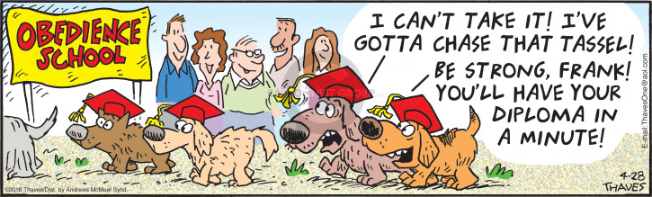 Cartoonist Bob Thaves Tom Thaves  Frank and Ernest 2018-04-28 dog