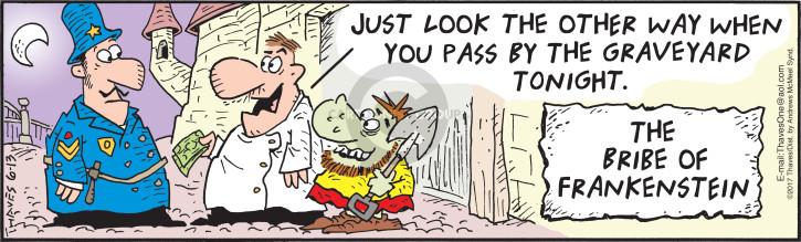 Comic Strip Bob Thaves Tom Thaves  Frank and Ernest 2018-06-13 Frankenstein