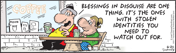 Cartoonist Bob Thaves Tom Thaves  Frank and Ernest 2018-06-20 coffee