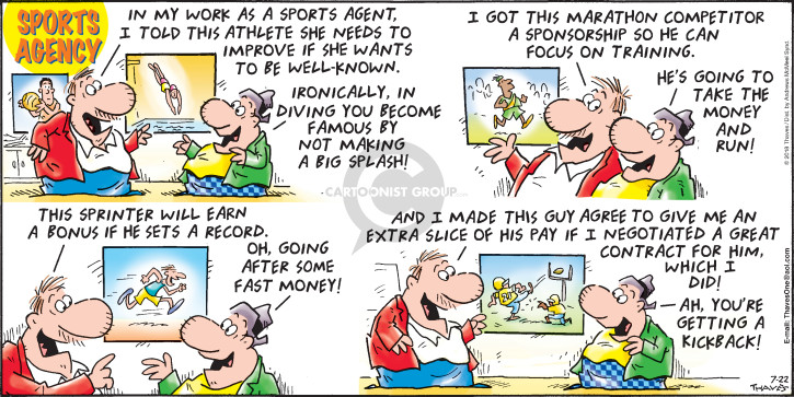 Cartoonist Bob Thaves Tom Thaves  Frank and Ernest 2018-07-22 football