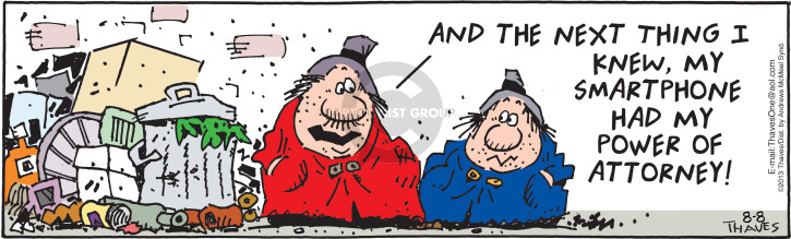 Comic Strip Bob Thaves Tom Thaves  Frank and Ernest 2018-08-08 capability