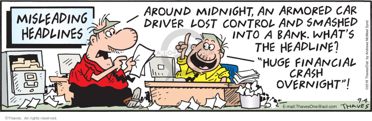Comic Strip Bob Thaves Tom Thaves  Frank and Ernest 2018-09-04 car driver