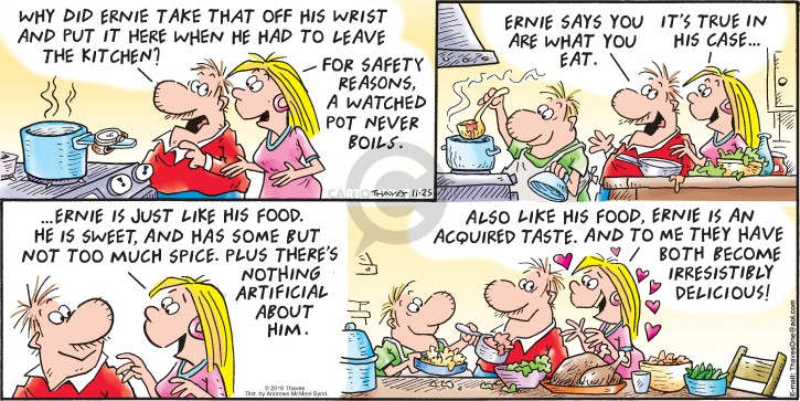 Comic Strip Bob Thaves Tom Thaves  Frank and Ernest 2018-11-25 eat