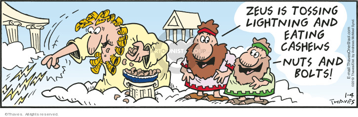 Comic Strip Bob Thaves Tom Thaves  Frank and Ernest 2019-01-04 Greek mythology