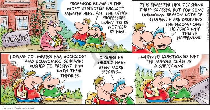 Comic Strip Bob Thaves Tom Thaves  Frank and Ernest 2019-01-06 professor