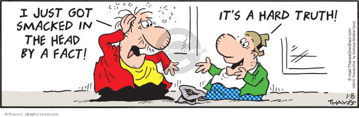 Comic Strip Bob Thaves Tom Thaves  Frank and Ernest 2019-01-08 head