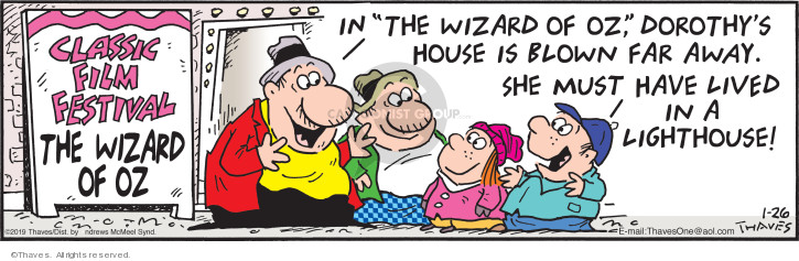 Comic Strip Bob Thaves Tom Thaves  Frank and Ernest 2019-01-26 wizard