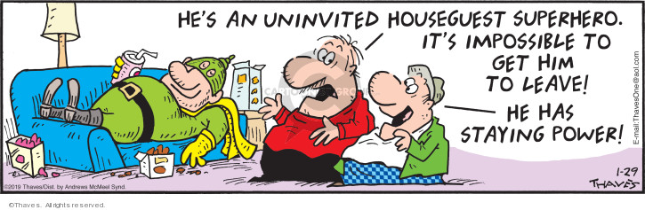 Comic Strip Bob Thaves Tom Thaves  Frank and Ernest 2019-01-29 super