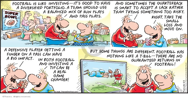 Comic Strip Bob Thaves Tom Thaves  Frank and Ernest 2019-02-03 football pass