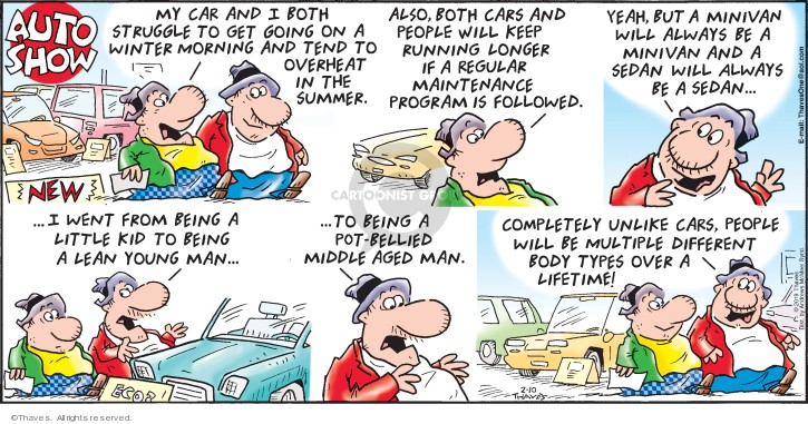 Comic Strip Bob Thaves Tom Thaves  Frank and Ernest 2019-02-10 automobile maintenance