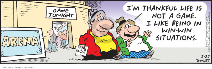 Comic Strip Bob Thaves Tom Thaves  Frank and Ernest 2019-02-22 tonight