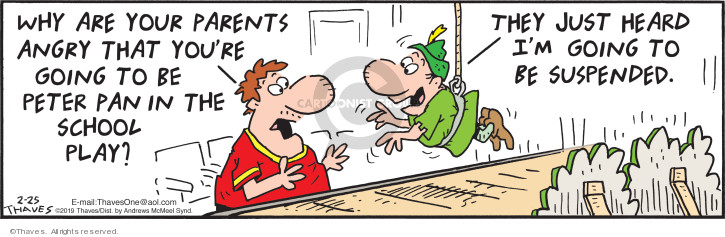 Cartoonist Bob Thaves Tom Thaves  Frank and Ernest 2019-02-25 Peter Pan