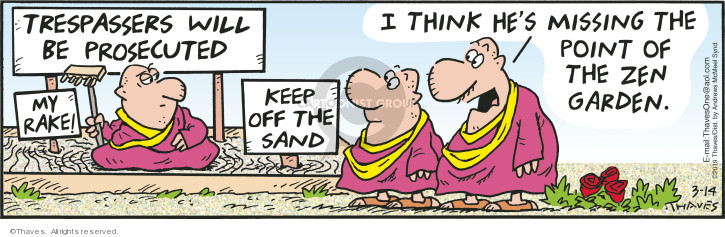 Comic Strip Bob Thaves Tom Thaves  Frank and Ernest 2019-03-14 sand
