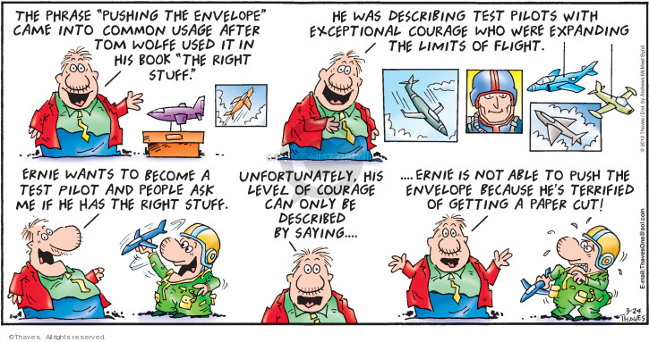 Comic Strip Bob Thaves Tom Thaves  Frank and Ernest 2019-03-24 right