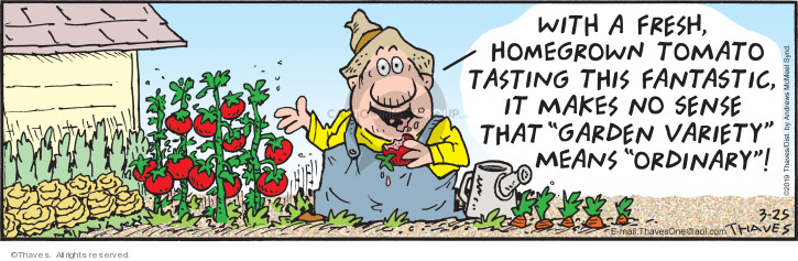 Comic Strip Bob Thaves Tom Thaves  Frank and Ernest 2019-03-25 vegetable