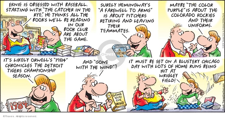 Comic Strip Bob Thaves Tom Thaves  Frank and Ernest 2019-04-07 baseball pitcher