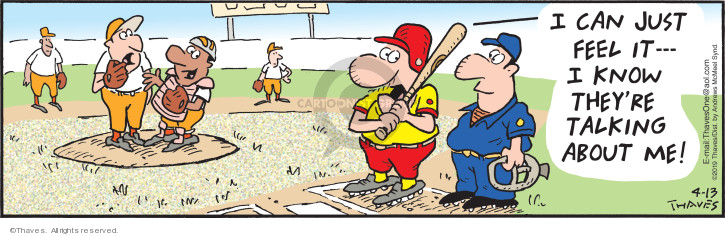 Comic Strip Bob Thaves Tom Thaves  Frank and Ernest 2019-04-13 baseball pitcher