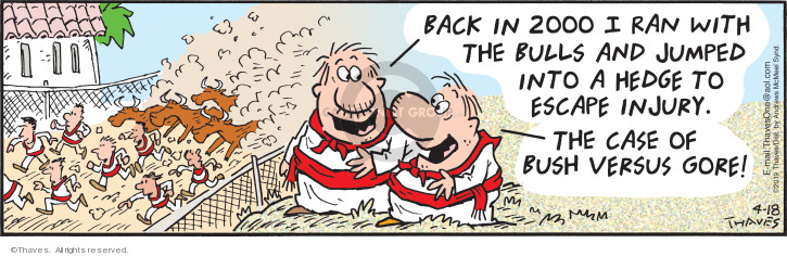 Comic Strip Bob Thaves Tom Thaves  Frank and Ernest 2019-04-18 injury