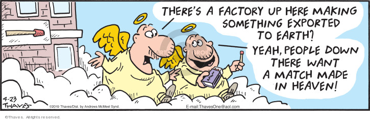 Cartoonist Bob Thaves Tom Thaves  Frank and Ernest 2019-04-23 heaven