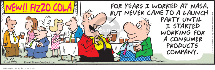 Comic Strip Bob Thaves Tom Thaves  Frank and Ernest 2019-04-27 celebration