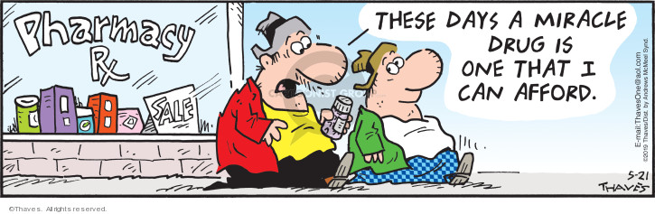 Comic Strip Bob Thaves Tom Thaves  Frank and Ernest 2019-05-21 expense