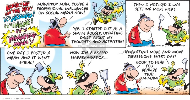 Cartoonist Bob Thaves Tom Thaves  Frank and Ernest 2019-05-26 marketing