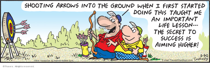 Comic Strip Bob Thaves Tom Thaves  Frank and Ernest 2019-05-30 lesson