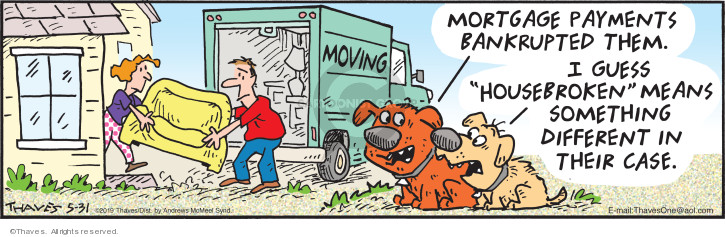 Cartoonist Bob Thaves Tom Thaves  Frank and Ernest 2019-05-31 dog