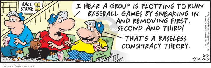 Comic Strip Bob Thaves Tom Thaves  Frank and Ernest 2019-06-03 baseball