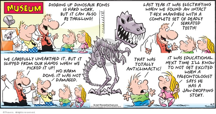 Comic Strip Bob Thaves Tom Thaves  Frank and Ernest 2019-06-09 natural history museum