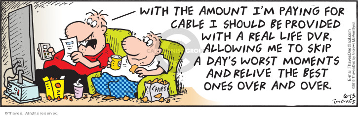 Cartoonist Bob Thaves Tom Thaves  Frank and Ernest 2019-06-15 television cartoon